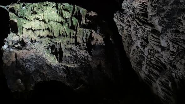 Thumbnail for Cave formations of stalactites and stalagmites 3840X2160 UltraHD  footage - Decoration  deep inside