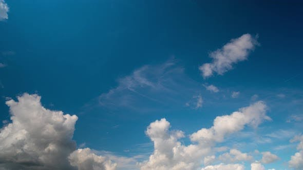 Thumbnail for Clouds on blue sky, time-lapse
