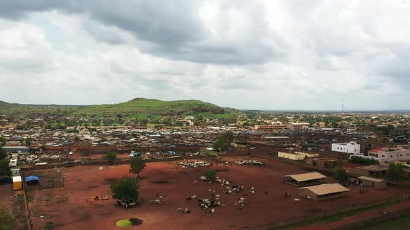 Thumbnail for Africa Mali Village And Ox Aerial View 7
