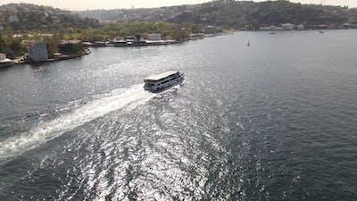 Drone Shot Istanbul Bosphorus