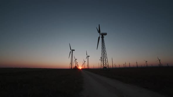 Windmills in the Steppes of Crimea