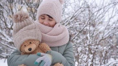 Winter Leisure with Teddy Bear