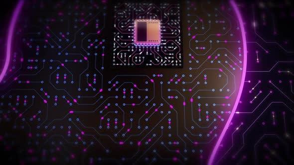 CPU Brain in Circuit Head