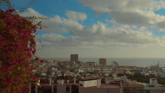 Thumbnail for Timelapse. Santa Cruz De Tenerife: Urban Landscape in the Middle of the Atlantic: Mountains, Green