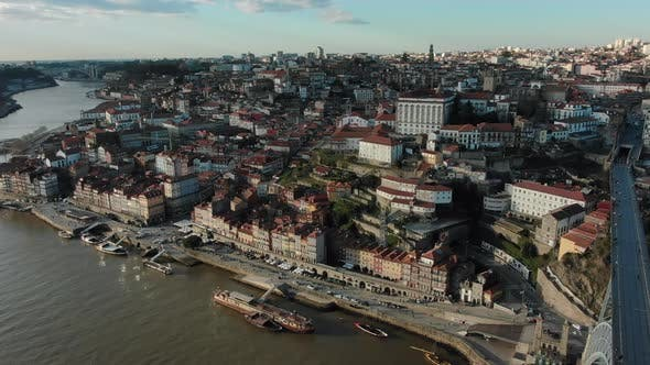 Picturesque Porto City with Bright White Buildings on Hill