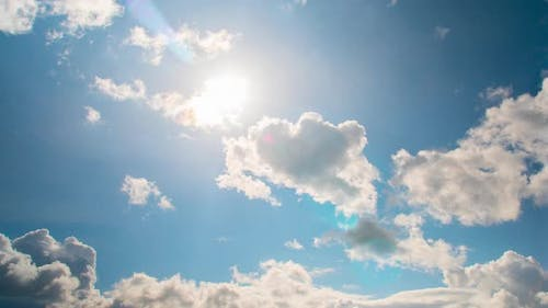 Sun and clouds, partly cloudy
