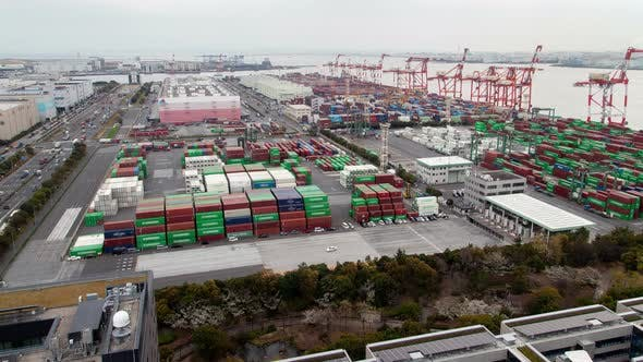 Thumbnail for Tokyo Container Terminal Japan Time Lapse