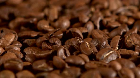 Thumbnail for Brown, Roasted Coffee Beans, Close Up, Rotation, Background