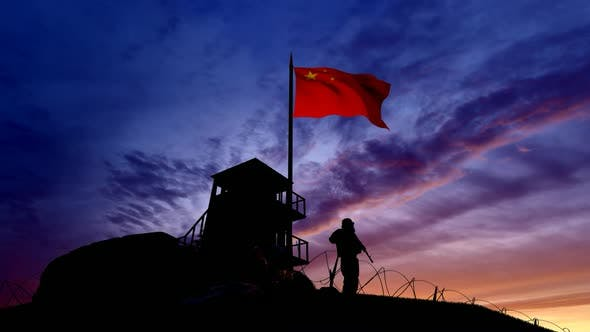 Thumbnail for Chinese Soldier On The Border At Night At The Border