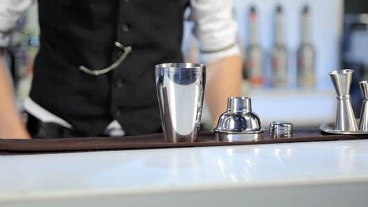 Thumbnail for Barman Rolling a Shaker