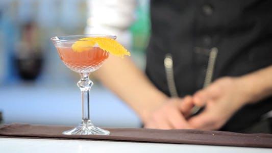 Thumbnail for Barman Preparing a Cocktail in Night Club