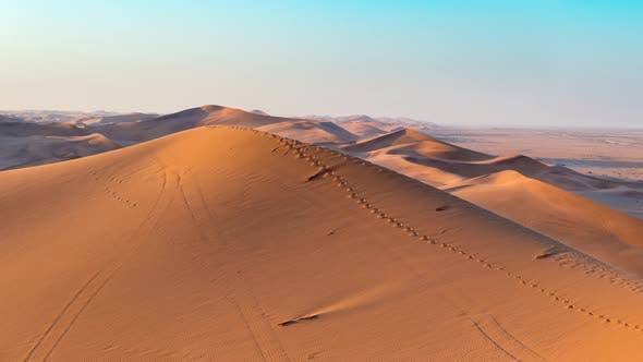 Thumbnail for Panorama on colorful sand dunes and scenic landscape in the Namib desert, Namibia, Africa