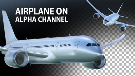 Thumbnail for Airplane On Alpha Channel