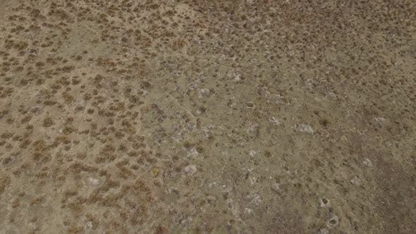 Aerial of arid landscape