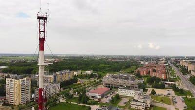 Soviet Type Old Tv Tower In Lithuania
