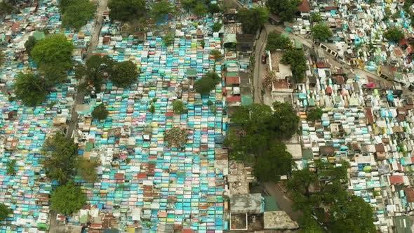 Manila North Cemetery Aerial View