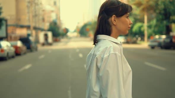Thumbnail for Caucasian Female Walking in Town
