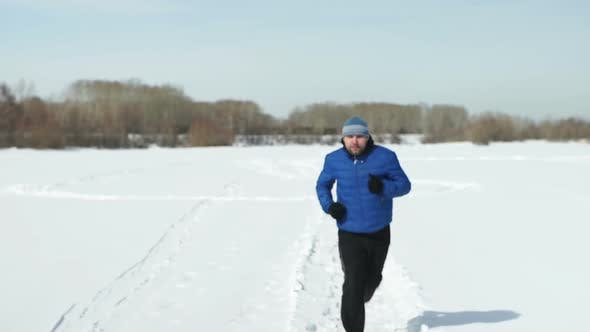 Thumbnail for Young Man Runs In The Winter