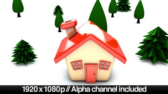 Thumbnail for Simple Cartoon House Building On Concept - Alpha