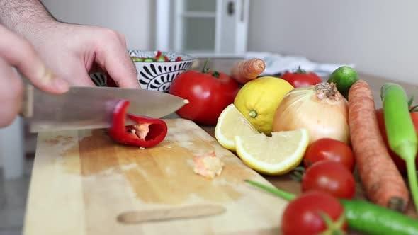Making Diet Food Kitchen