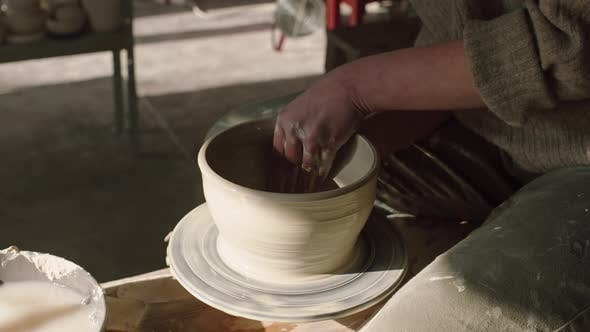 Clay Bowl Is Made By Potter