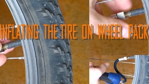 Inflating the Tire on Wheel