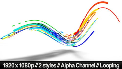 Colorful 3D Neon Lines Moving in Organic Path