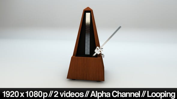 Isolated Metronome Music Timer Looping With Alpha