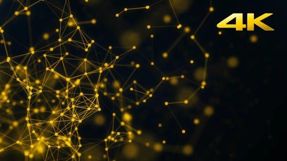 Thumbnail for Gold Particles Plexus Background