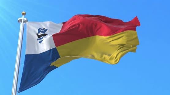 Almere Flag, Flevoland, Netherlands