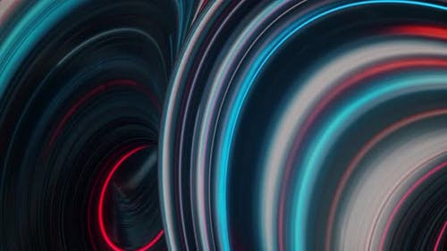 Fantastic futuristic background with twisted substances colored in neon lights