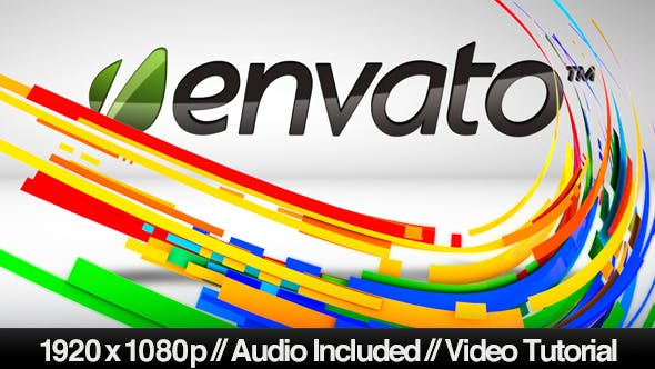Thumbnail for Colorful Abstract Vector Lines into 3D Logo Reveal