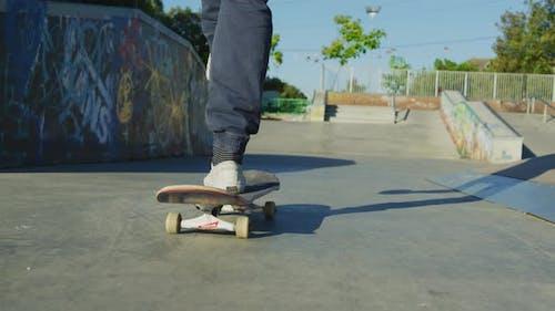 Patinage dans un skatepark