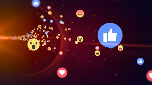Generic Facebook Emotion Icons Flying V3