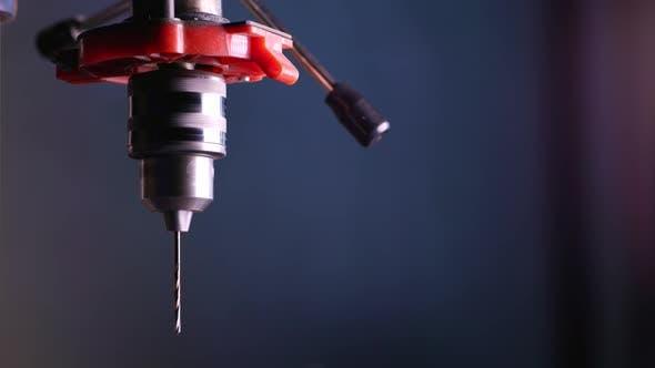 Drilling Machine Rotation in Workshop