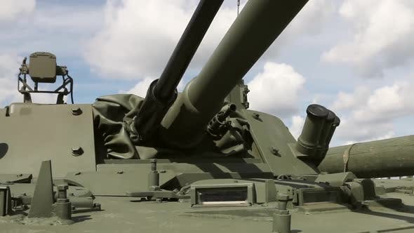 Observation Armored Triplex on the Armor of a Tank