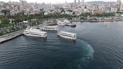 Ferryboats Crosses the Strait
