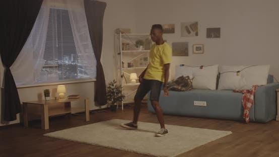 Thumbnail for Man Dancing in Living Room