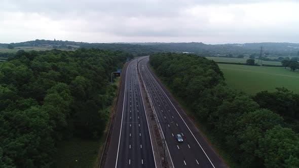 Thumbnail for Aerial Motorway 4k