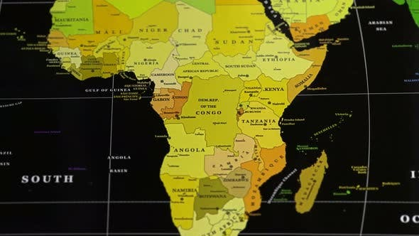 Cover Image for Southern And Northern Countries Of Africa On A World Map.