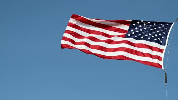 Video of United States Flag Flying Proud