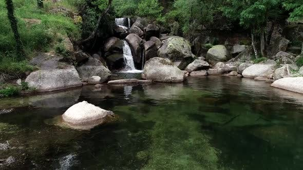 Thumbnail for Beautiful Tropical Waterfall in Portugal