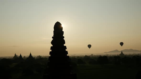 Thumbnail for Time lapse from balloons flying during sunrise