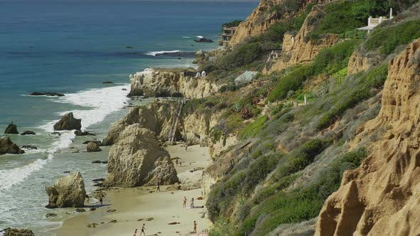 Thumbnail for El Matador State Beach with tourists