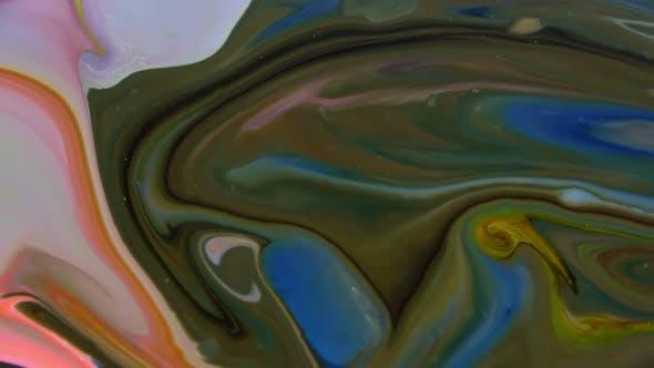 Thumbnail for Abstrakte bunte Farbe Tinte Explode Diffusion 59