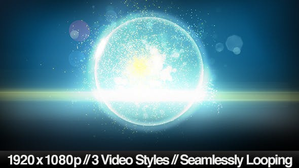 Thumbnail for Futuristic Magic Glass Ball Background - 3 Styles
