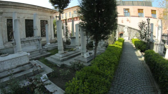 Cemetery With Tombs and Graves