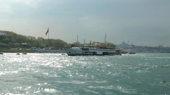 Ferry Passing By in Bosphorus