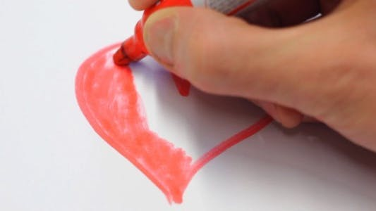 Cover Image for Drawing Red Heart on White Time Lapse