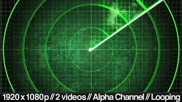 Thumbnail for Radar Detection Screen Display - 2 Looping Styles
